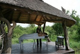 Safari-style, open-air spa, Impodimo Game Lodge