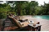 Relaxing pool deck, Impodimo Game Lodge