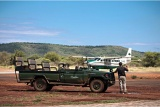 Collecting guests from the airstrip, Madikwe Safari Lodge