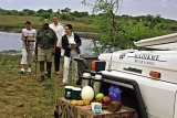 Refreshment stop on safari, Madikwe River Lodge