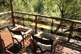 Private game-viewing deck, Thakadu River Camp