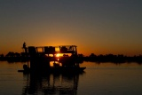 Sunset cruise on river barge