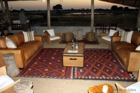 Comfortable lounge at Camp Hwange