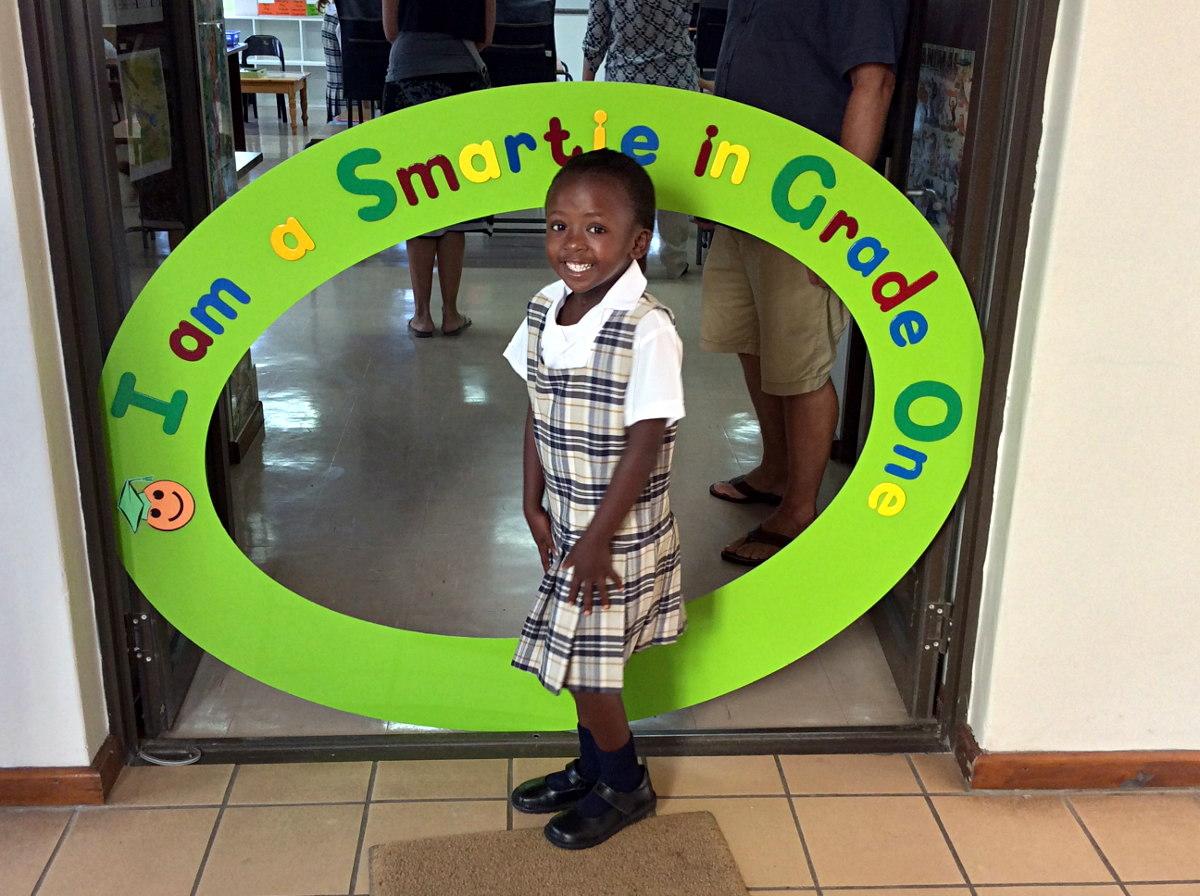 Khanya's 1st day in Grade 1 by