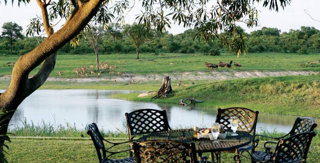 Private Safari Lodge Overlooking Active Waterhole by