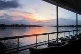 Sunset river boat cruise, victoria falls