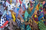 Kanga and kitenge in tengeru market, arusha, tanzania