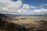 View from the rim of Ngorongoro Crater