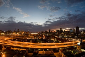 Johannesburg City viewed from M1 highway