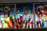 Stained glass window, Regina Mundi Church, Soweto