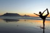 Beach yoga, cape town