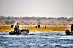 Safari by Boat, Kavango, Namibia
