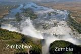 Vic falls aerial zimbabwe zambia