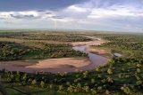 The Luangwa River from the microlight