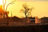 Remote Africa 4x4 safaris at sunset
